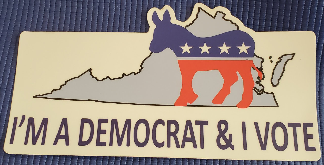 I'M A DEMOCRAT AND I VOTE